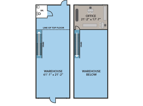 warehouse floor plan A Large